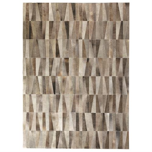 Inlay Hair-on-Hide Rug-Greys-9 x 12