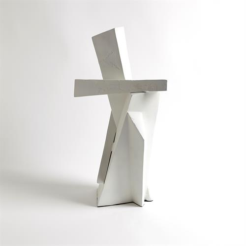 Angular Outcrop Sculpture-White