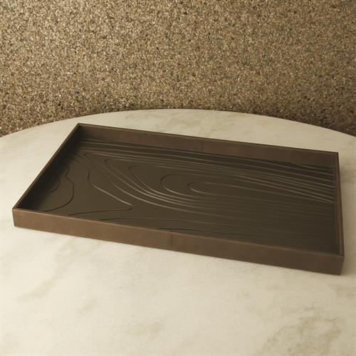Wood Grain Tray-Charcoal