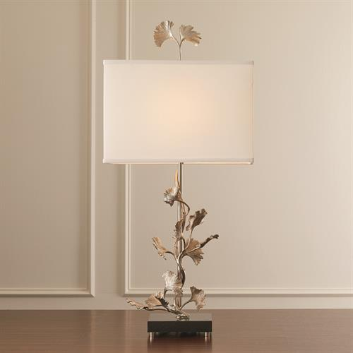 Ginkgo Table Lamp-Nickel