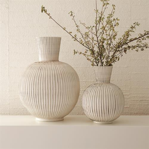 Furrow Sphere Vases