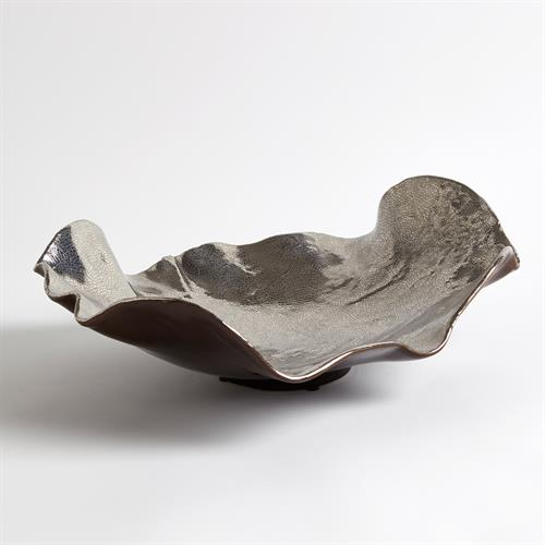 Wave Platter-Platinum Crackle