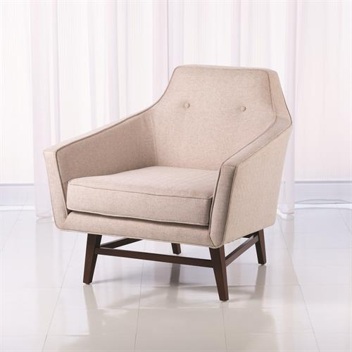Edward Lounge Chair-Muslin