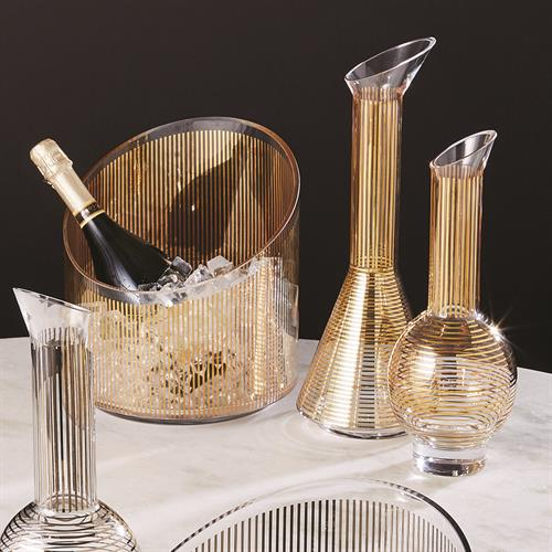 Gold Stripe Ice Bucket