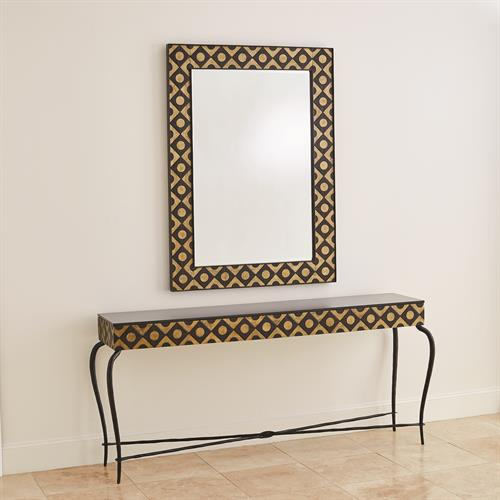 Metal Marquetry Console