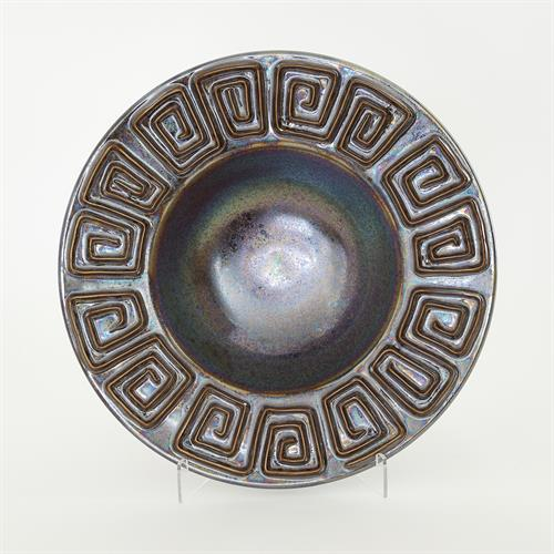 Greek Key Bowl-Irridescent Bronze