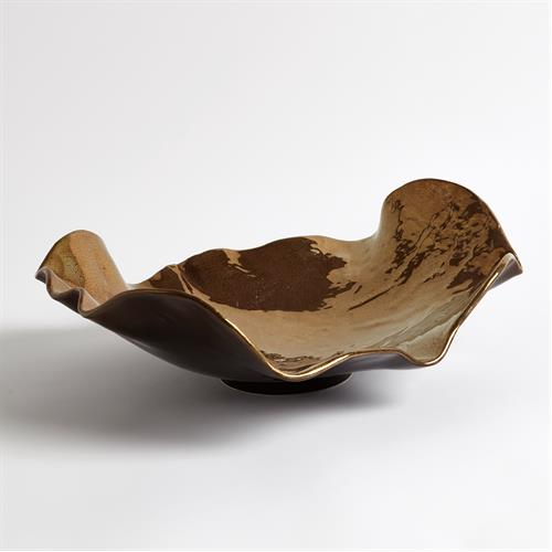 Wave Platter-Bronze Crackle