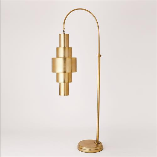 Babylon Floor Lamp-Antique Brass