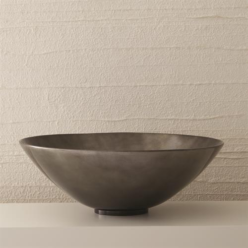 Grand Bowl-Gunmetal Silver Leaf
