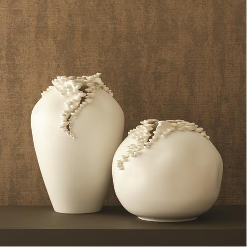 Cascading Reef Vases-White