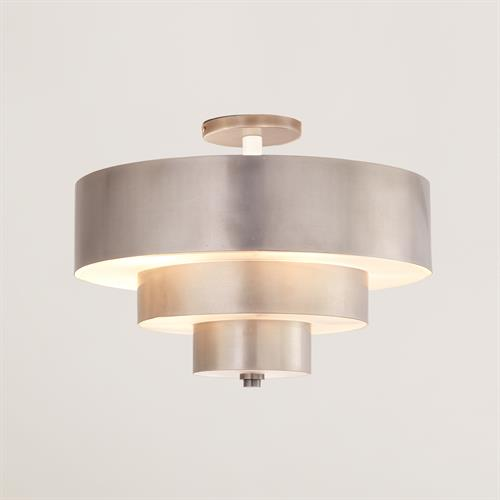 Saturn Flush Mount-Antique Nickel