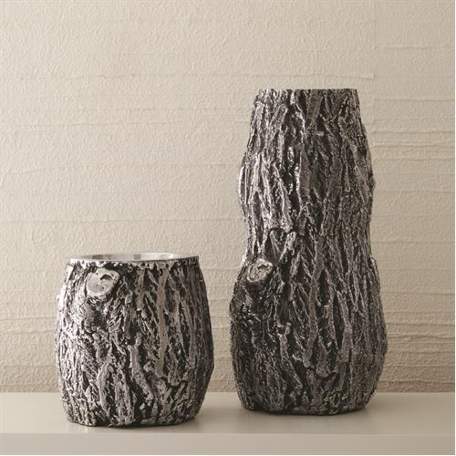 Oak Vases-Black Antique