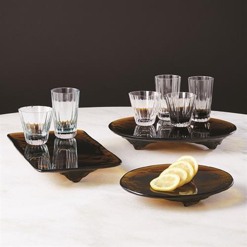 LiuLi  Amber Glass Trays