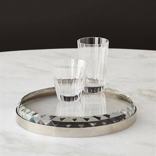 Banded Crystal Tray-Nickel