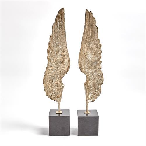 Wings Sculpture-Silver Leaf-Pair