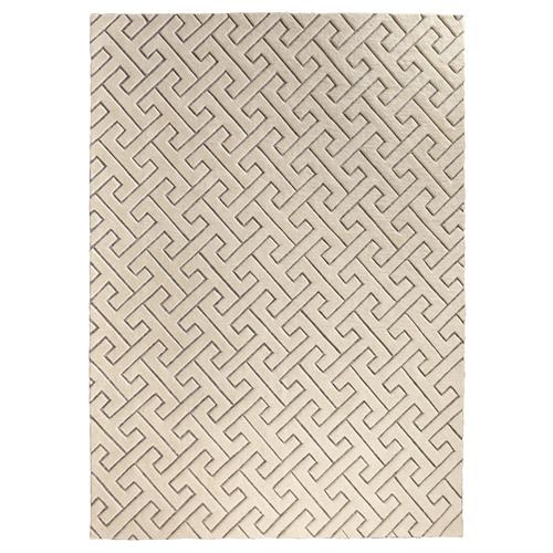 Tessellating Rug-Ivory/Grey-9 x 12