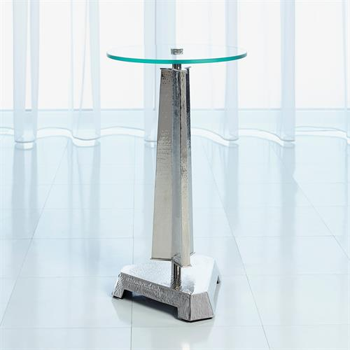 Tapering Tripod Table-Nickel