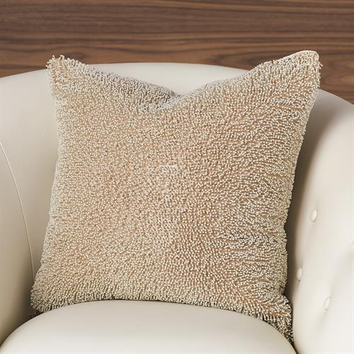 Beaded Pillow-Champagne