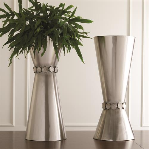 Flip Flop Nugget Vase-Nickel