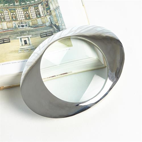 Oval Magnifying Glass-Nickel