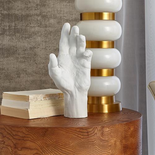 Hand Resting-Matte White