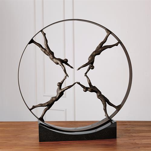 Reaching for Center Sculpture