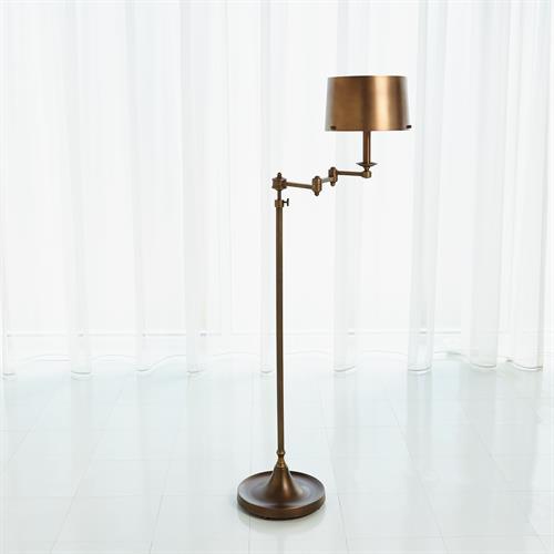 Swing Arm Floor Lamp-Light Bronze
