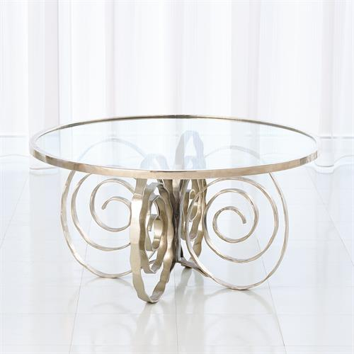 Weathervane Cocktail Table-Nickel