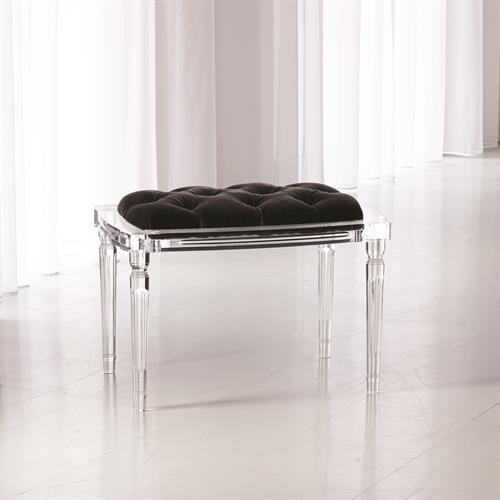 Marilyn Acrylic 4 Leg Bench-Black