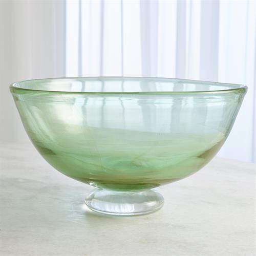 Granilla Footed Compote-Green