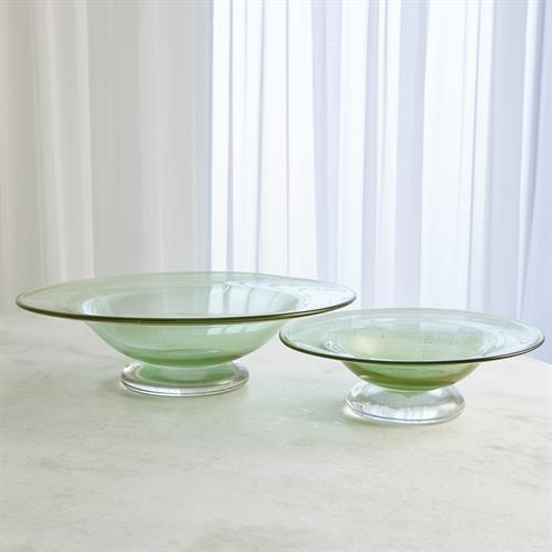 Granilla Footed Bowl-Green