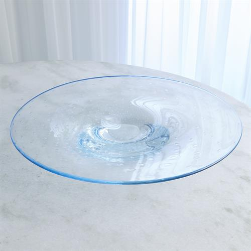Bubbles Platter-Blue