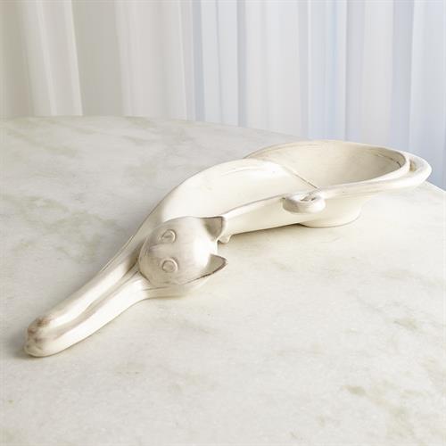 Cat Platter-Cream