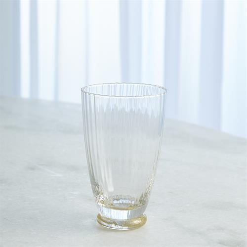 Footed Water Glass-Gold