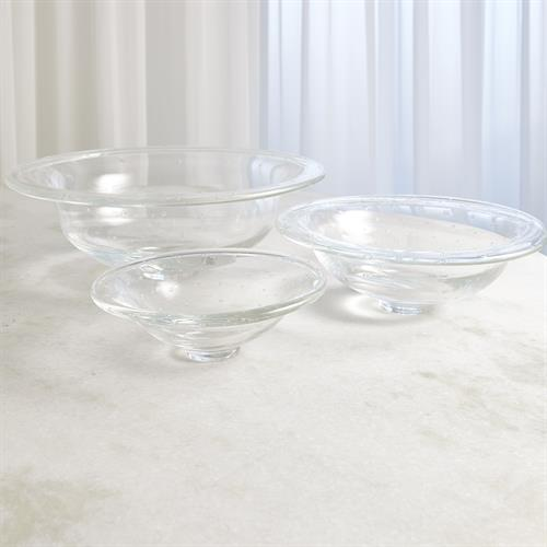 Perfect Compote-Clear w/Spiral Bubbles