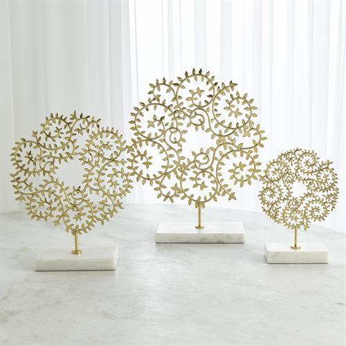 Leafy Panels-Brass
