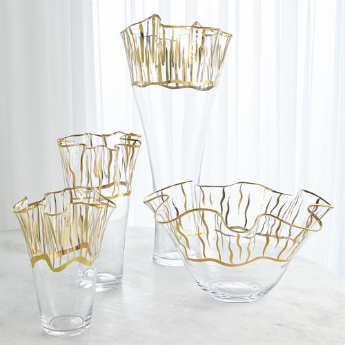 Tropaz Bowl-Vase-Gold