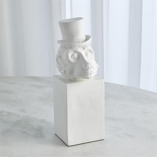 Top Hat Monkey-Matte White