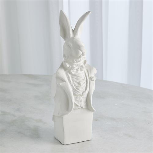 Rabbit in Tux-Matte White