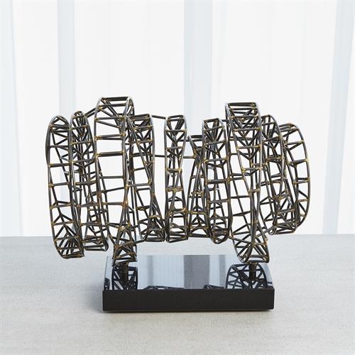 Helix Sculpture-Iron & Brass Braising