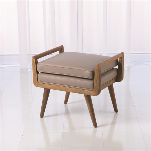 Lucas Short Bench-Grey Leather