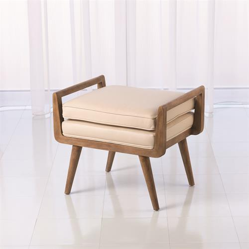 Lucas Short Bench-Beige Leather