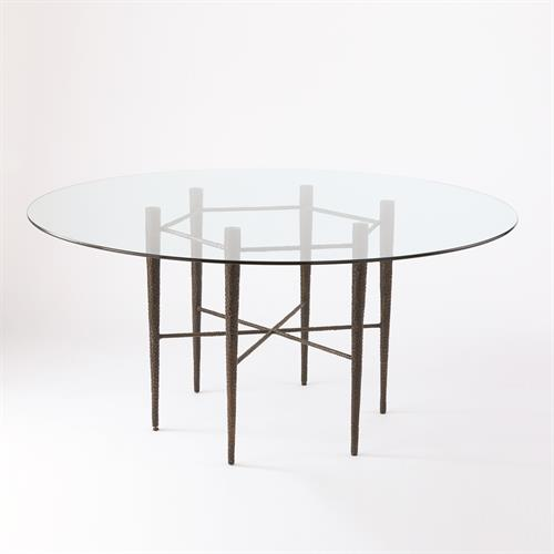 Hammered Dining Table - Bronze