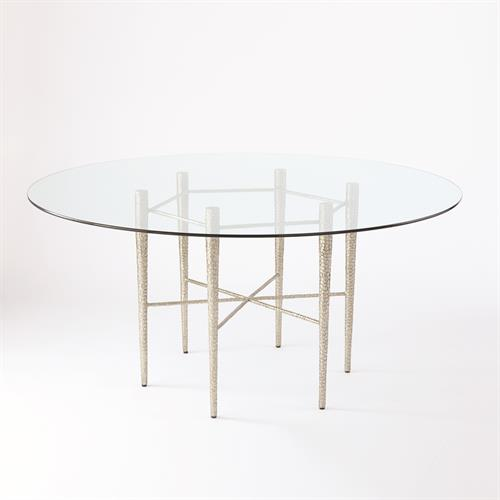 Hammered Dining Table Base-Nickel Plated