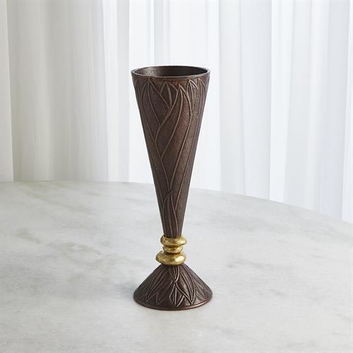 Leaf Vases-Bronze