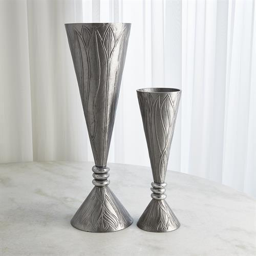 Leaf Vases-Nickel