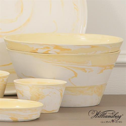 S/3 Richmond Serving Set-Yellow-Lg