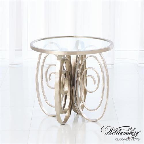 Weathervane Side Table-Nickel