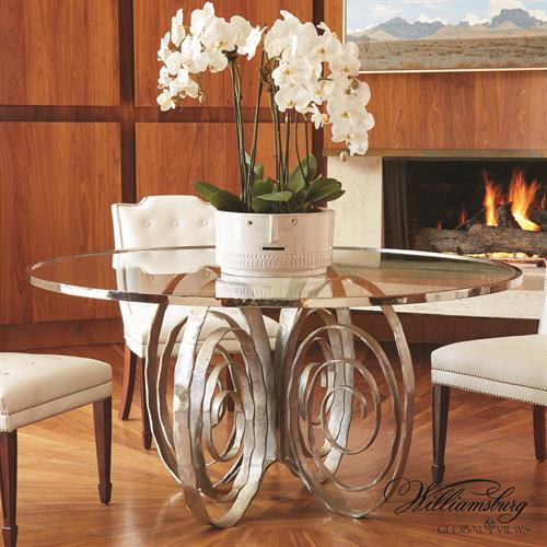Weathervane Dining Table-Nickel