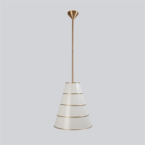 Talouse Pendant-Antique Satin Brass/Ivory